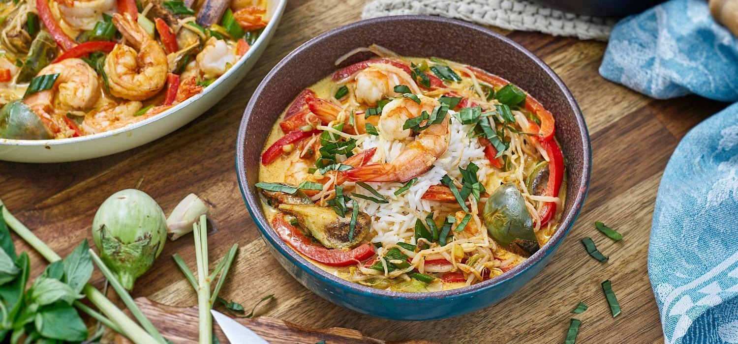 RECIPES_Asiatisches Curry mit Gambas