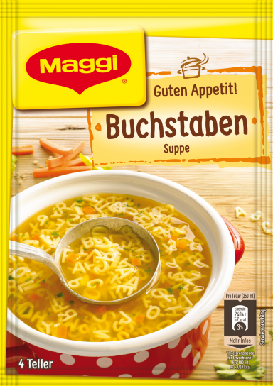 Maggi Guten Appetit Buchstabensuppe