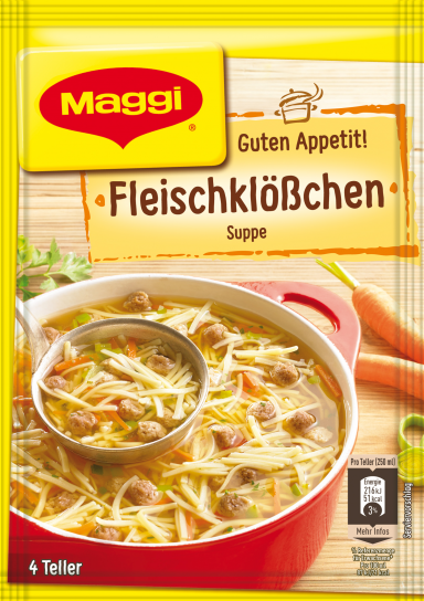 Maggi Guten Appetit Fleischklösschensuppe